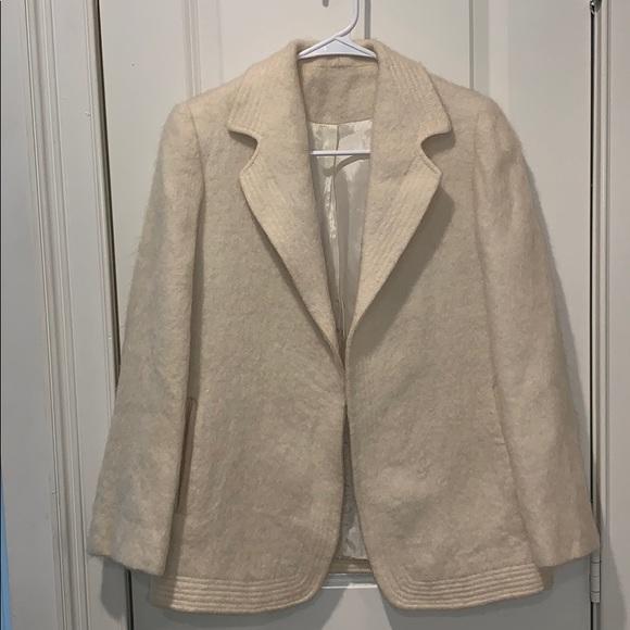 Vintage Jackets & Blazers - EUC!! Vintage Cream Fuzzy Blazer size Small